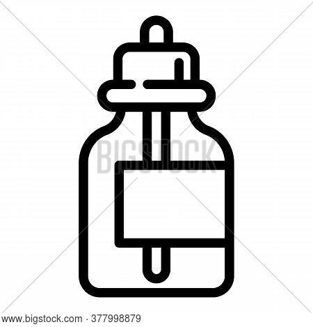 Toxic Liquid E Cigarette Bottle Icon. Outline Toxic Liquid E Cigarette Bottle Vector Icon For Web De