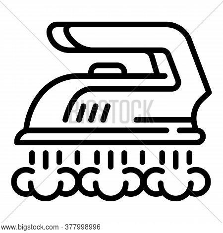 Modern Iron Icon. Outline Modern Iron Vector Icon For Web Design Isolated On White Background