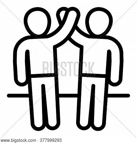 Friendship Icon. Outline Friendship Vector Icon For Web Design Isolated On White Background