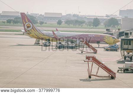 Bangkok, Thailand - Nov 22 : Nok Air Plane Landed At Don Mueang International Airport On November 22
