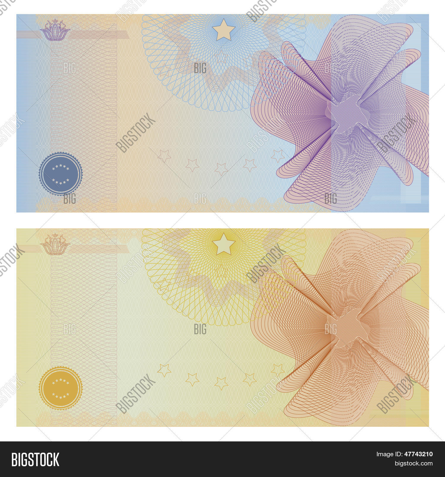 Gift voucher certificate vector photo bigstock gift voucher certificate coupon template banknote money design currency cheque 1betcityfo Gallery
