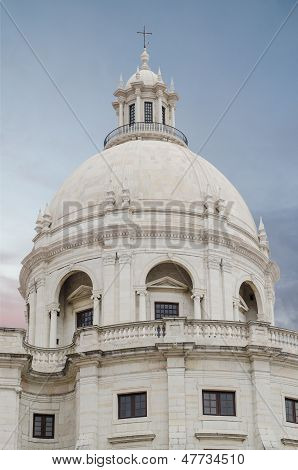 Main Dome Of National Pantheon In Lisbon