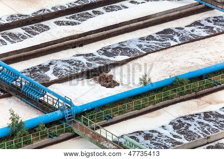 Wastewater Aeration By Oxygen Supply In Water Treatment Plant