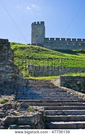Stairway below Despot tower at Kalemegdan fotress, Belgrade