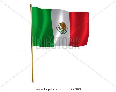Mexico Silk Flag