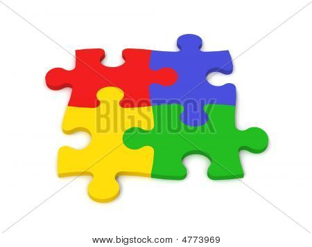 Colorful Puzzle Pieces