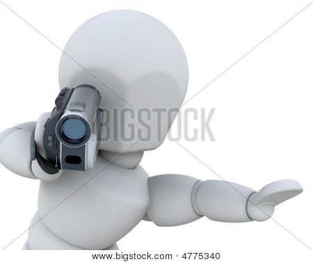 3D Man With Handycam