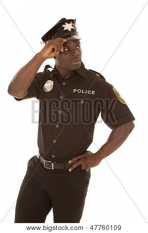 Police Officer Look Back