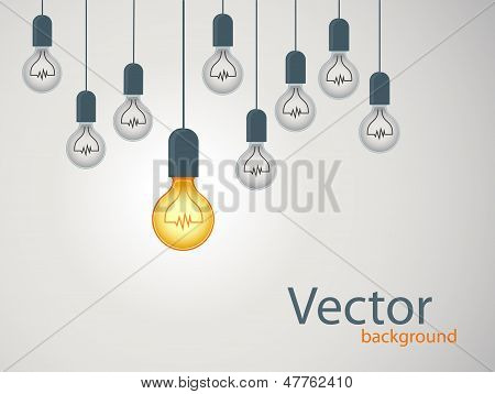 Llight Bulb Creative Design. Concept Idea