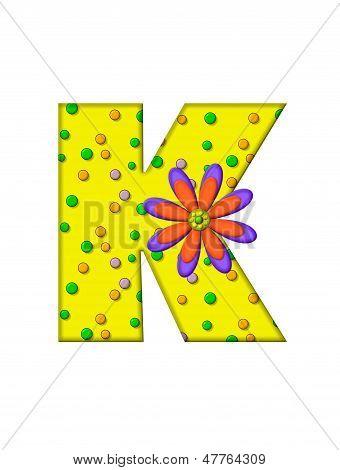 Alphabet Zany Dots K