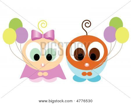 Cute Interracial Kids Vector