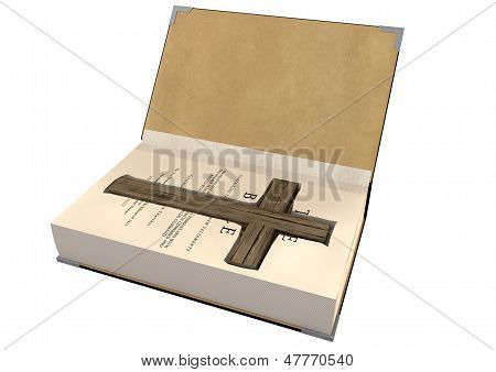 Crucifix Concealed In A Bible