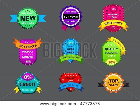 Set Of Different Color Labels