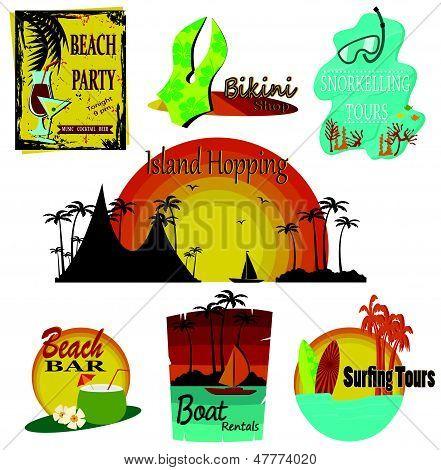vector summer signs