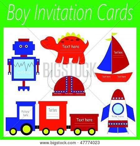boy invitation cards