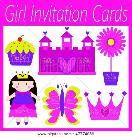 girl invitation cards