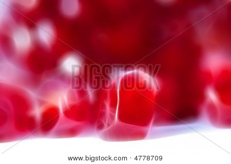 pomegranate close up background. shine effect. beauty red poster