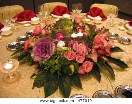 Wedding Banquet Table Decor