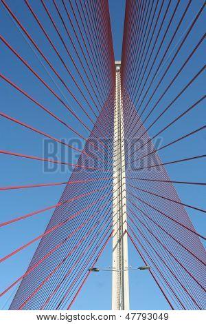 The Cable-stayed Bridge Talavera, Toledo.puente Of Castilla La Mancha