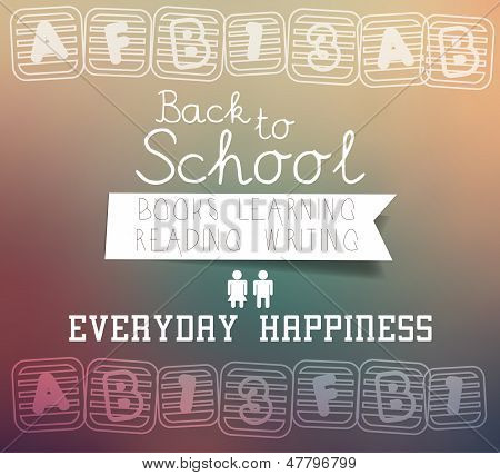 Back to school - blurred background