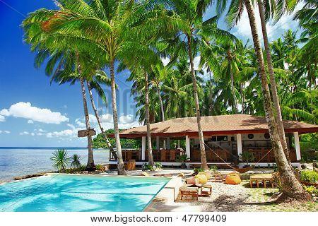 tropical holidays, luxury resort on the beach