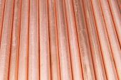 Copper pipes- can be used for abstract background. poster