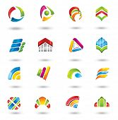 Design elements. Collection with icons for abstract logo. poster