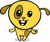 Cartoon Illustration of Kawaii Style Cute Happy Dog or Puppy poster