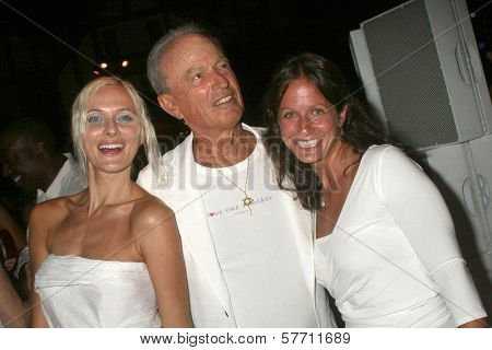 Dominika Wolski with Fred Segal and Mary Showstark  at the Birthday Celebration for Fred Segal and Charity Auction. Private Location, Malibu, CA. 08-29-09
