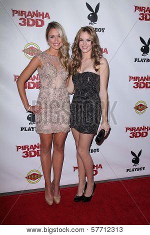 Katrina Bowden, Danielle Panabaker at the