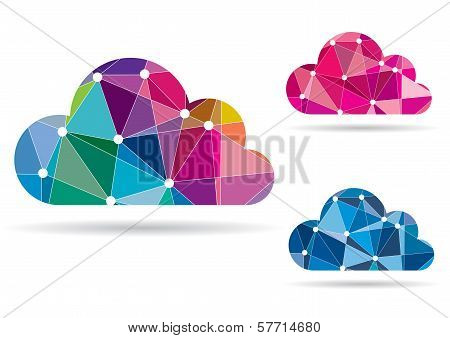 Abstract Colorful Cloud For Computing, Apps, Web