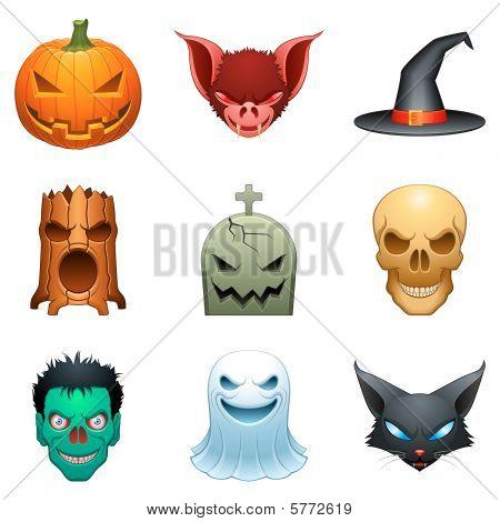 Vektor-Halloween Zeichen.