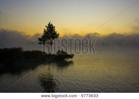 Sunrise on Keuka Lake, New York.