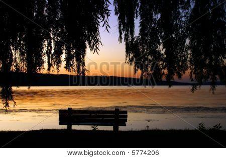 Sunset on Cayuga lake.