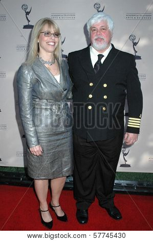 Marjorie Kaplan and Captain Paul Watson at the Second Television Academy Honors Gala. Beverly Hills Hotel, Beverly Hills, CA. 04-30-09