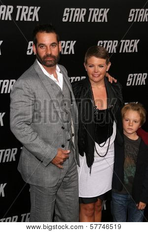 Adrian Pasdar with Natalie Maines and their son  at the Los Angeles Premiere of 'Star Trek'. Grauman's Chinese Theatre, Hollywood, CA. 04-30-09