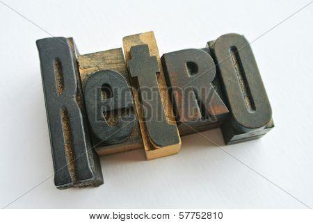Retro Wood Word