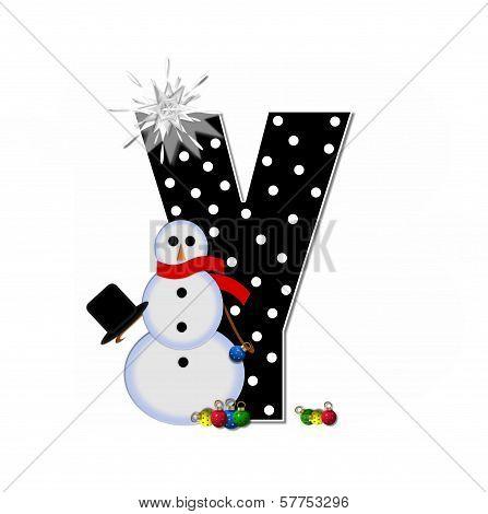 Alphabet Frosty Y