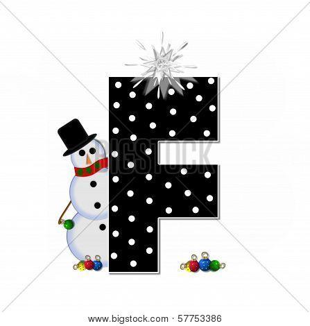 Alphabet Frosty F