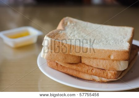 Breakfast with bread