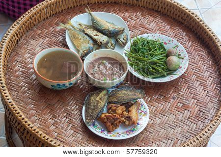 traditionally meal set of Thailand,
