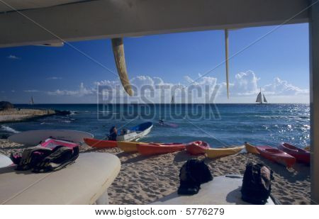 Sailboards On Bayahibe Beach - Dominican Republic