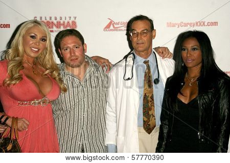 Mary Carey with David Weintraub and Mike Horner at the 'Celebrity Pornhab with Dr. Screw' Premiere Party. Les Deux, Hollywood, CA. 06-01-09