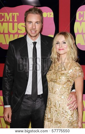 Dax Shepard and Kristen Bell at the 2012 CMT Music Awards, Bridgestone Arena, Nashville, TN 06-06-12