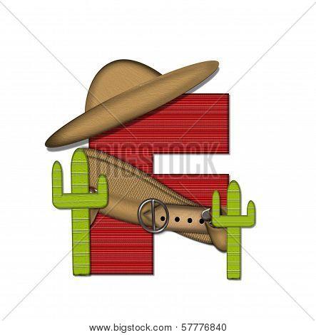 Alphabet Bandido F