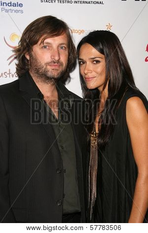 Gregor Jordan and Simone Kessell  at the Australian Academy Award Celebration. Chateau Marmont, West Hollywood, CA. 90046
