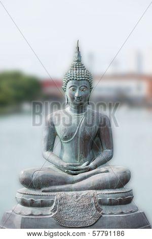 Buddha Statue In Seema Malaka Temple In Colombo, Sri Lanka