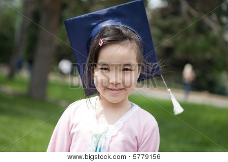 Girl In The University Hat