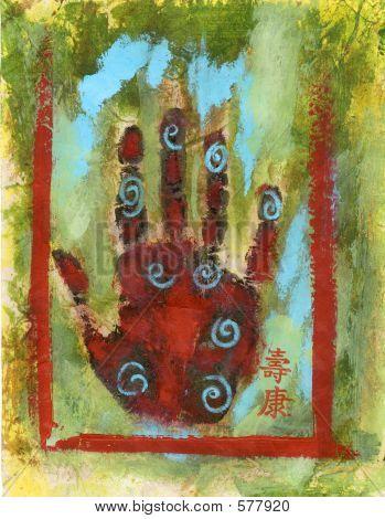 Abstract Chakra Hand