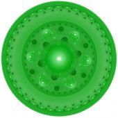 Abstract elegance background. Green - white palette. Raster fractal graphics. poster